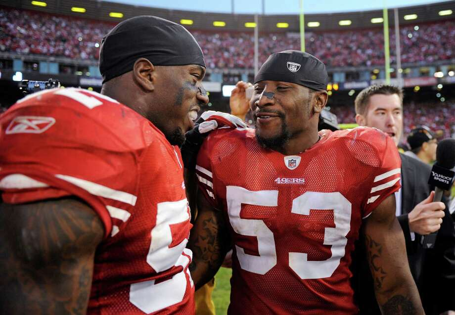 NaVorro Bowman (right) and Patrick Willis are two of four players in 49ers history to earn at least four first-team All-Pro selections. Photo: Greg Trott / ASSOCIATED PRESS / ONLINE_YES