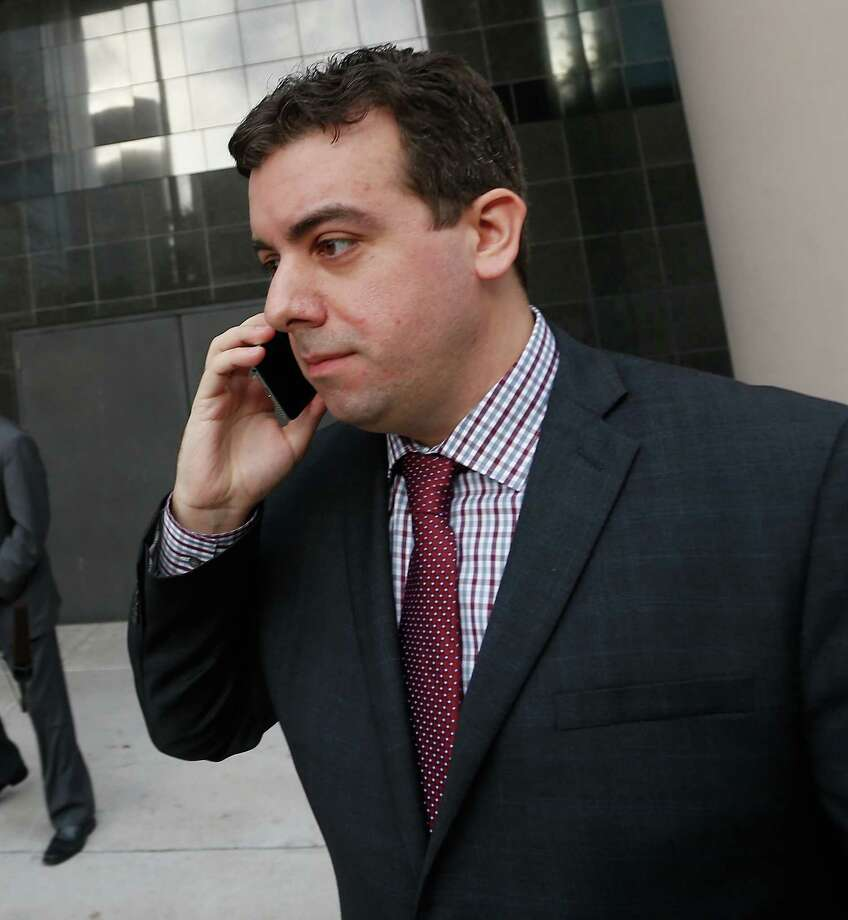 Chris Correa, the former director of scouting for the St. Louis Cardinals, leaves the Bob Casey Federal Courthouse, Friday, Jan. 8, 2016, in Houston. Correa pleaded guilty to five counts of unauthorized access of a protected computer, access authorities said dated back several years. (AP Photo/Bob Levey) Photo: Bob Levey, Associated Press / FR156786 AP