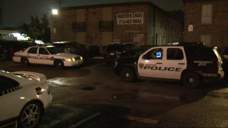 One man died Friday night when an argument in the Hunter's Chase Apartments in Northwest Houston escalated to gunfire. Photo: Metro Video