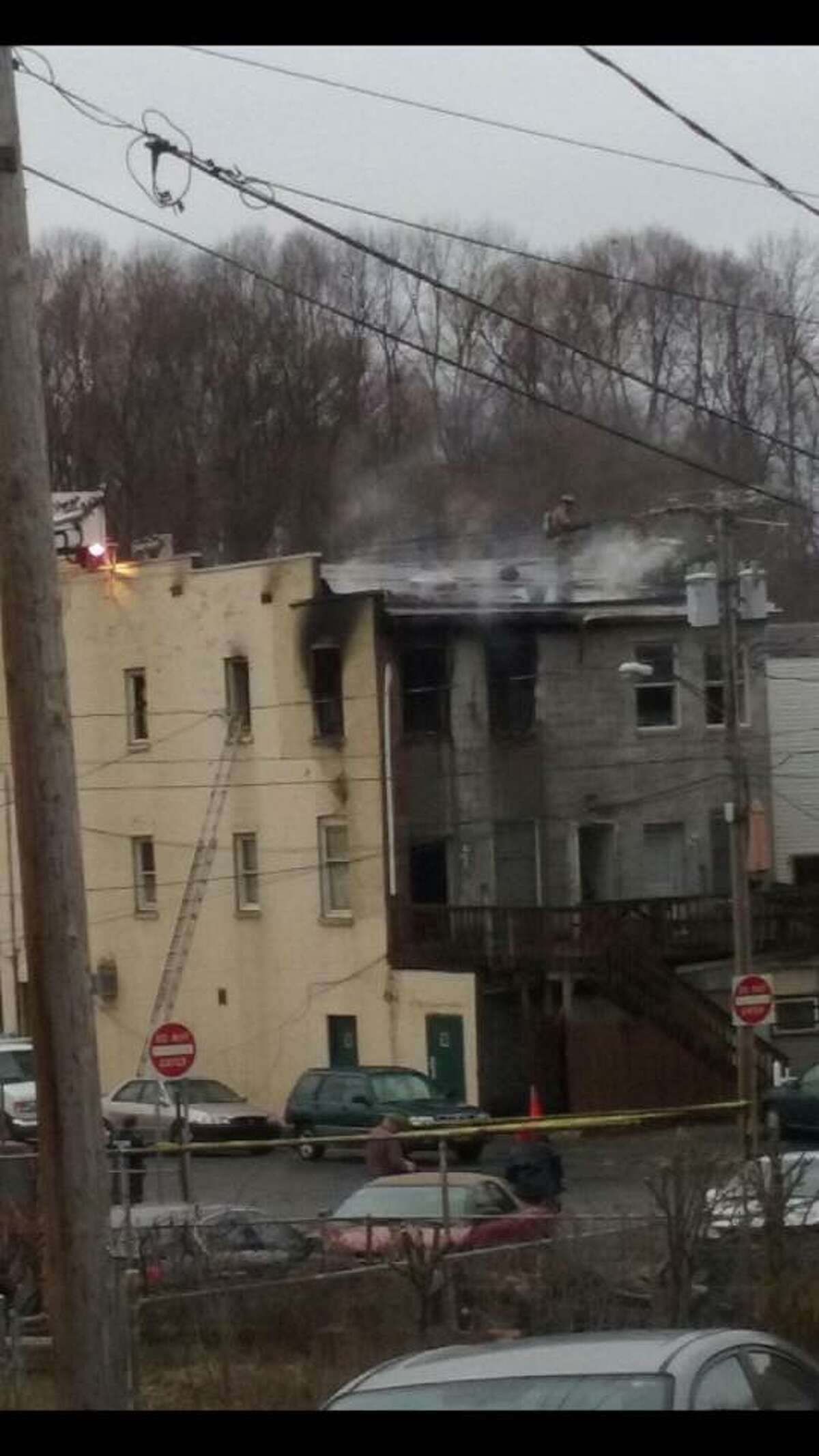 Fire damaged 351 Congress St. in Troy, N.Y. on Saturday, Jan. 9, 2016. (Chris Taylor - Capital Distsrict Fire Buffs Facebook Page)