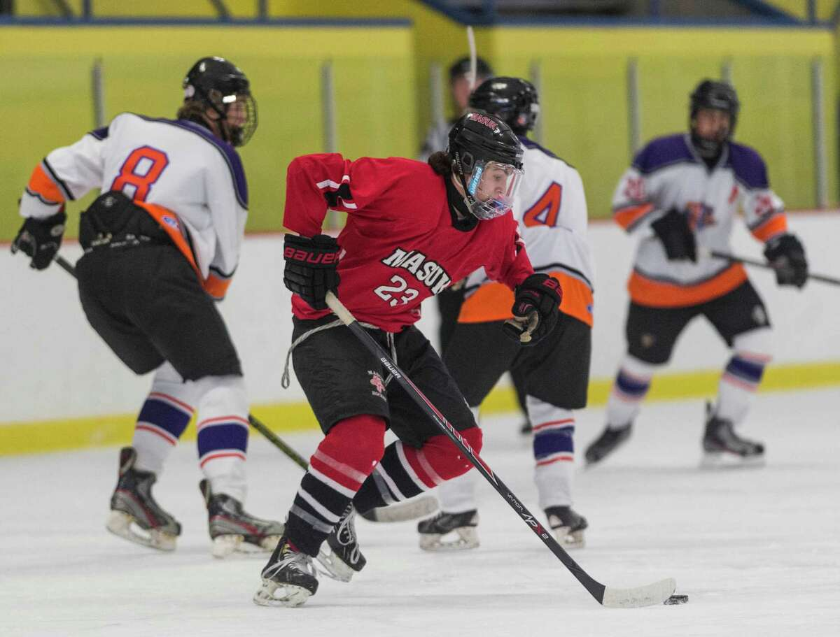 Masuk High played the Westhill-Stamford co-op team during a boys ice hockey game at Terry Connors Rink in Stamford on Jan. 2. There is an increased demand for ice time at Terry Connors Rink and other area rinks.