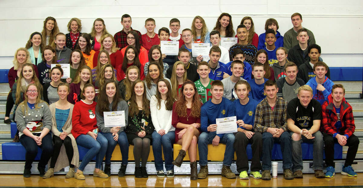Members of the school?s fall varsity teams from Galway Central School District qualified as NYSPHSAA Scholar/Athlete Teams because each team?s combined cumulative grade point average was at least 90.