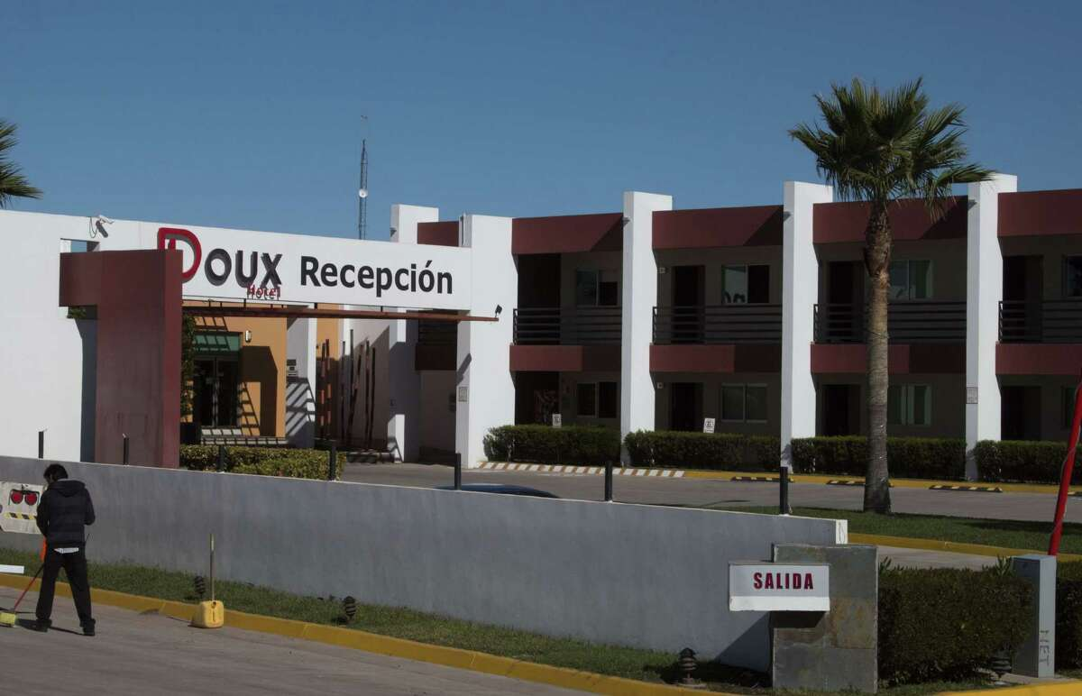 Picture taken on January 9, 2016 of the Doux hotel where marines kept drug kingpin Joaquin