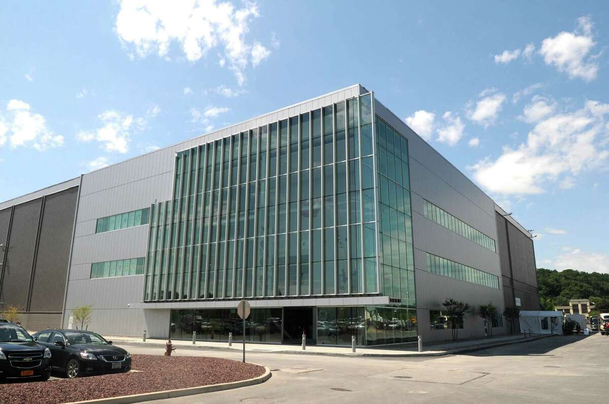 A view of the building that houses GE's durathon battery plant on Tuesday, July 10, 2012 at the GE campus in Schenectady, NY. (Paul Buckowski / Times Union)