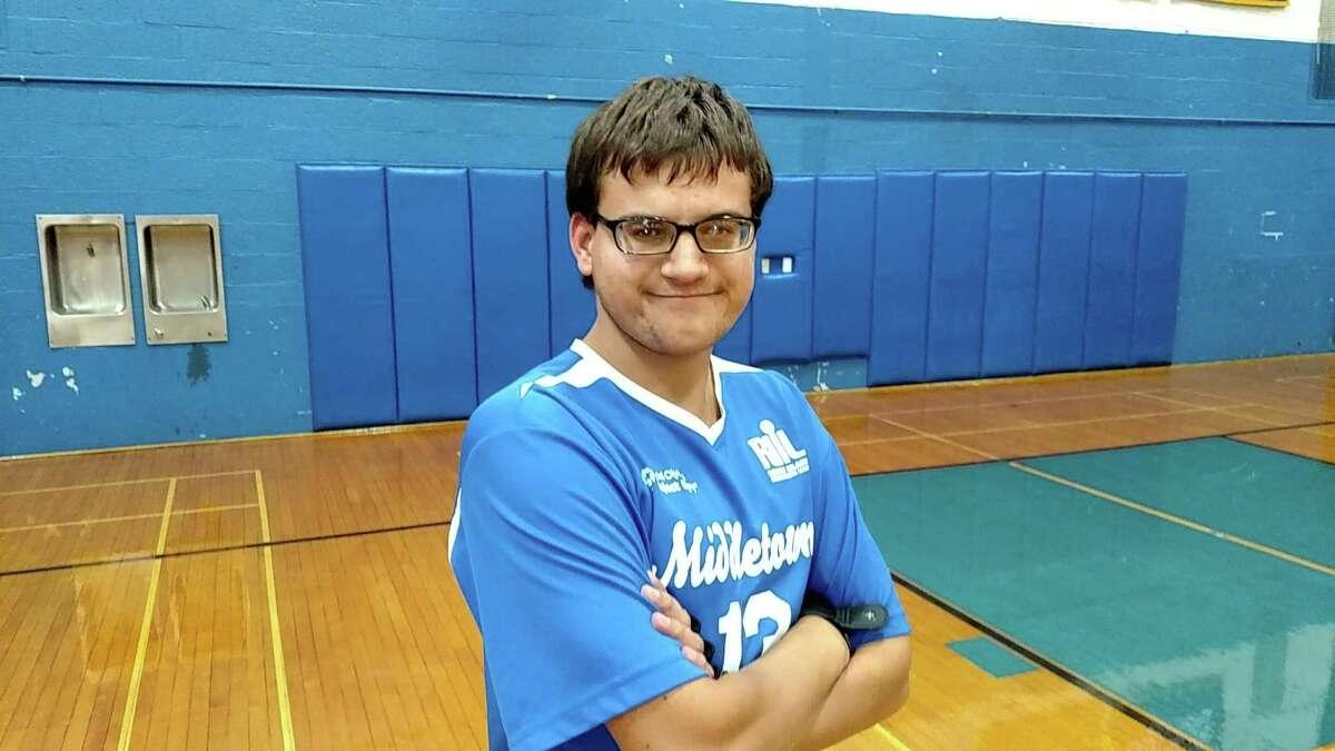 Derek Patsos plays several sports, including basketball, volleyball and baseball. (Photo courtesy Chris Patsos)
