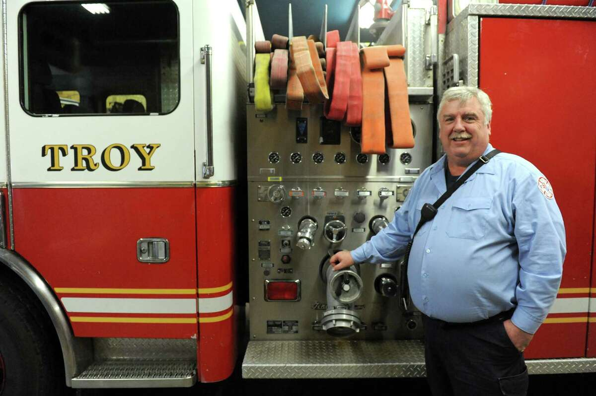 Firefighter Bill Miller retires after 28 years with Troy Fire Department Working his final 24 hour shift on Saturday Jan. 9, 2016 in Troy, N.Y. (Michael P. Farrell/Times Union)