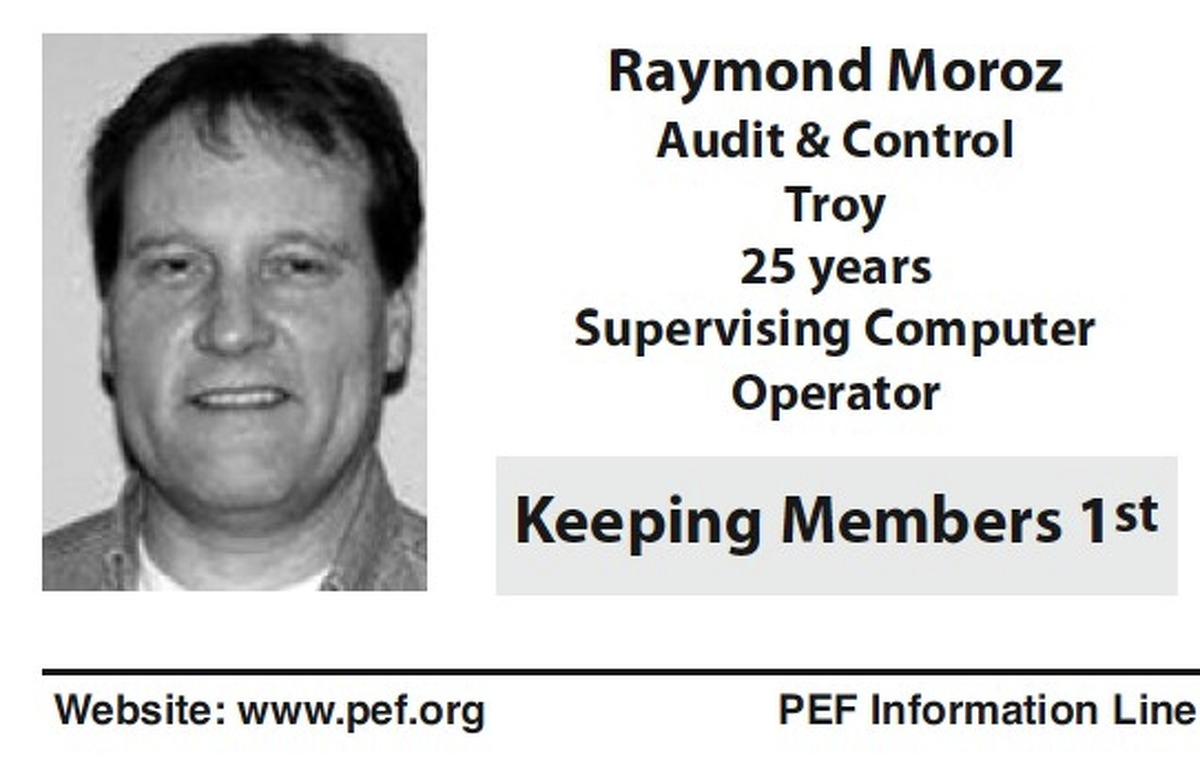 Presidential candidate Raymond Moroz, who lives in Colonie, is running a low-key campaign. This shot from a 2012 PEF Election Guide is the only available photo.