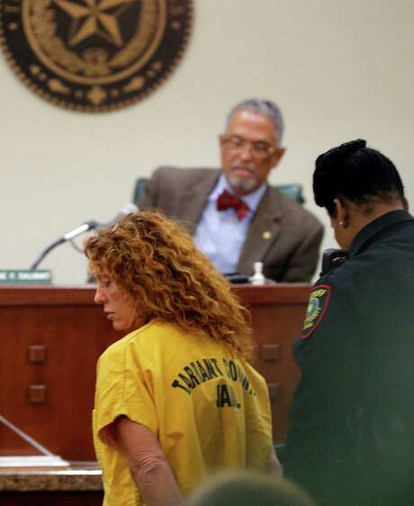 """Tonya Couch appears before state District Judge Wayne Salvant in Fort Worth, Texas, Friday, Jan. 8, 2016. The mother of Ethan Couch, who used an """"affluenza"""" defense after killing people in a drunken-driving wreck appeared in court on a charge of hindering the apprehension of a felon. Photo: Rodger Mallison /Fort Worth Star-Telegram / Pool Star-Telegram"""
