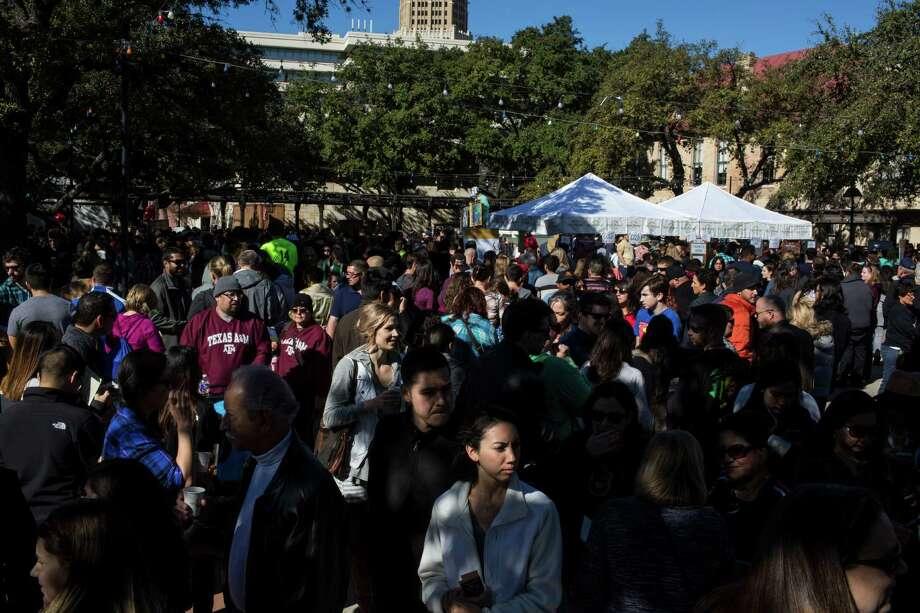 Thousands of people attend the San Antonio Coffee Festival at La Villita in San Antonio, Texas on January 9, 2015. Photo: Carolyn Van Houten / Carolyn Van Houten / 2016 San Antonio Express-News