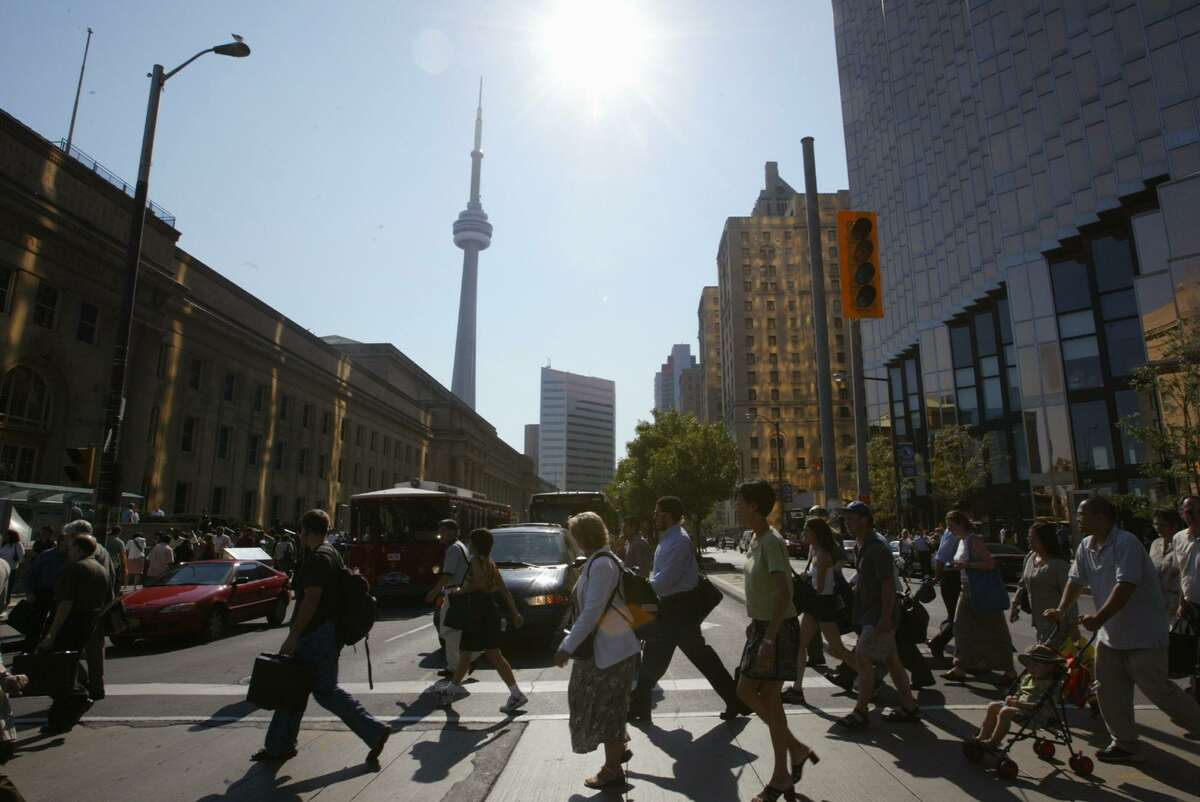 Urban planners blame Houston's tunnels for draining downtown street-level vitality. But downtown Toronto, seen here, also has a tunnel system and thrives.