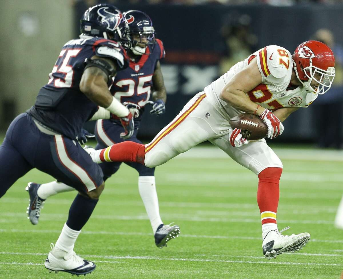 The Chiefs' Travis Kelce and Texans' Benardrick McKinney have seen each other plenty through the years, with Sunday marking the teams' sixth game since the start of the 2015 season.