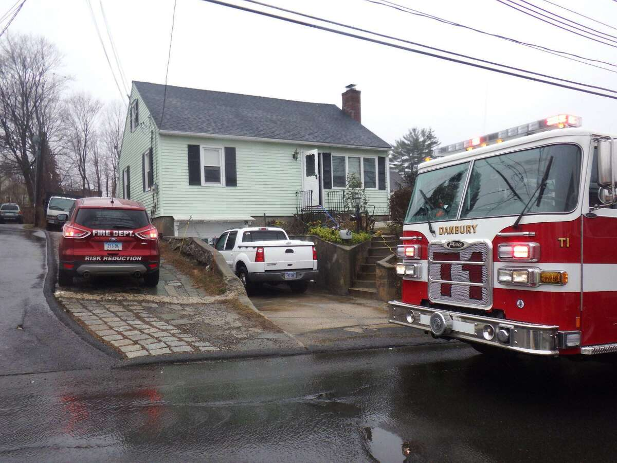 A man was brought to the hospital Sunday morning after a fire in a bedroom on Sheridan Street.