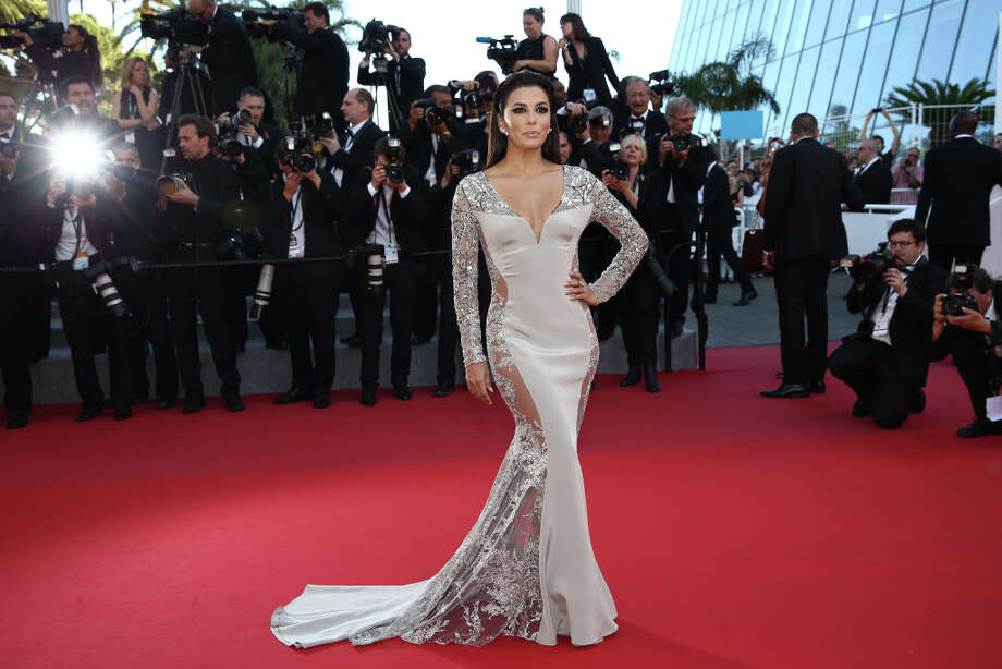 """Eva Longoria, a presenter on tonight's Golden Globes is no stranger to red carpet arrivals. Here she's in Cannes France for the Premiere of """"Inside Out"""" during the 68th annual Cannes Film Festival on May 18, 2015 in Cannes, France.  (Photo by Andreas Rentz/Getty Images) Photo: Andreas Rentz, Getty Images / 2015 Getty Images"""