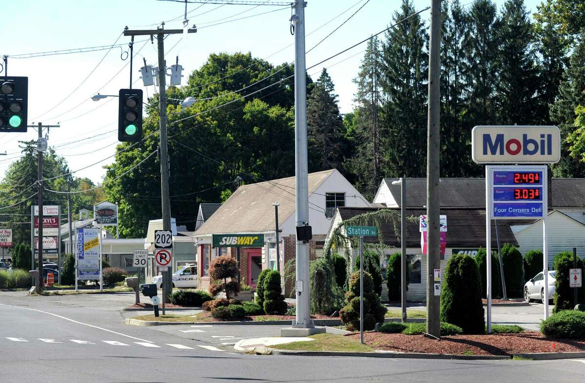Work could soon begin on a long-discussed revitalization plan for the Four Corners neighborhood in Brookfield, but a new proposal to bury the utility lines could delay the start of the project. Wednesday, Sept. 23, 2015.