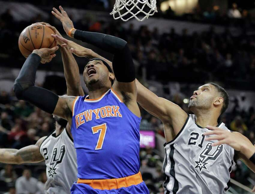 38 total games played: Duncan 26 - Carmelo Anthony 12