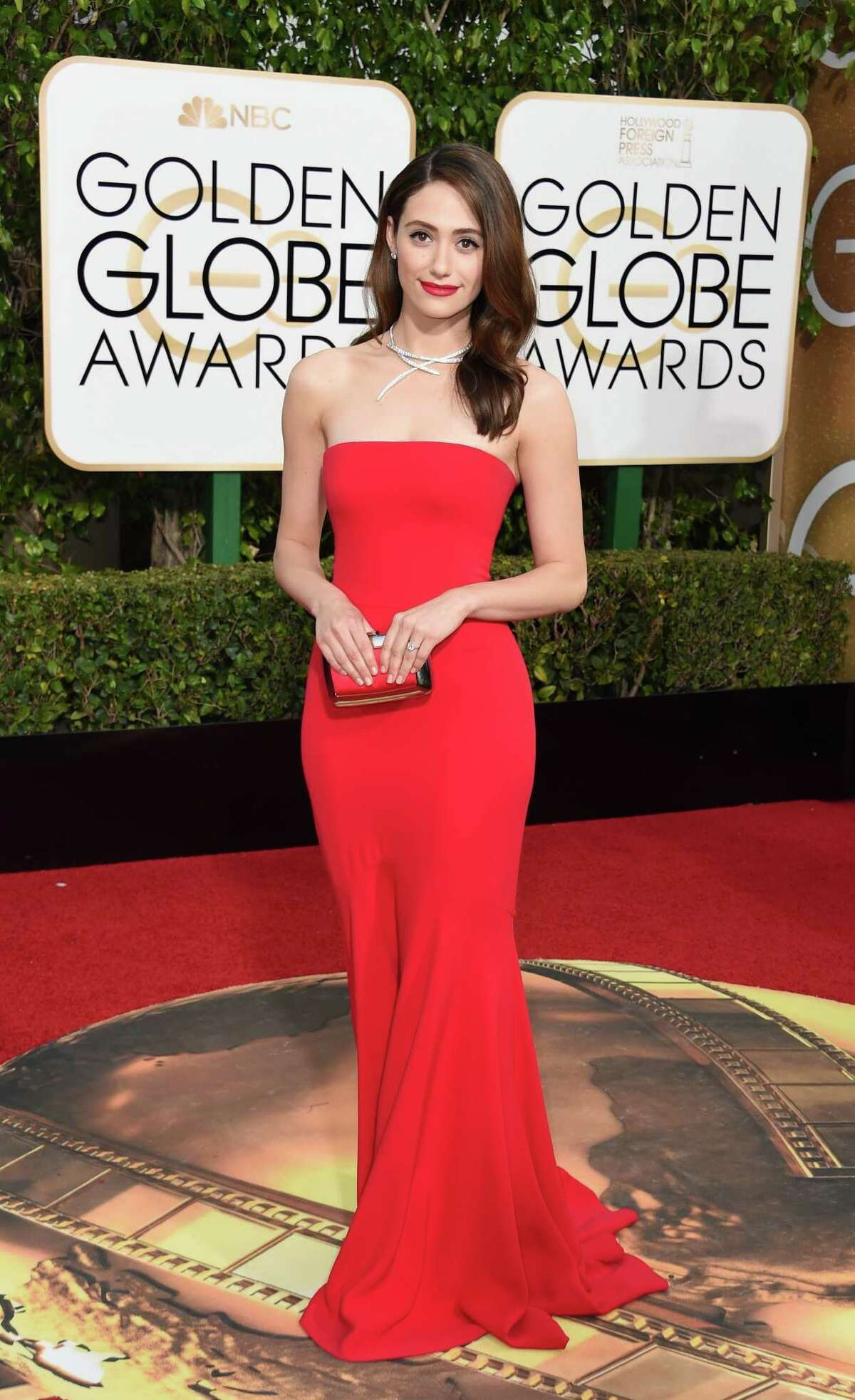 Emmy Rossum - Best Simple and stunning. Finally, a dress that doesn't call to mind Vick's Vapo-Rub.