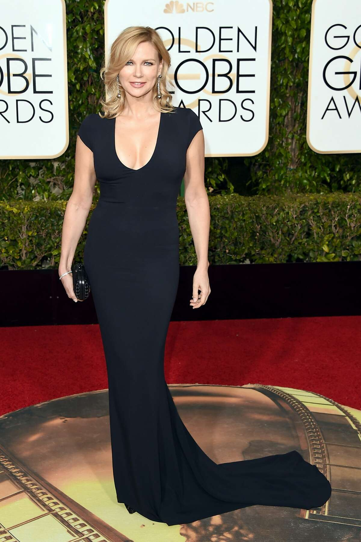 Actress Veronica Ferres attends the 73rd Annual Golden Globe Awards held at the Beverly Hilton Hotel on January 10, 2016 in Beverly Hills, California.