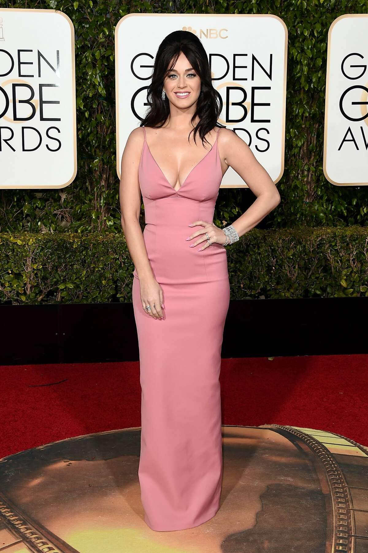 Singer Katy Perry attends the 73rd Annual Golden Globe Awards held at the Beverly Hilton Hotel on January 10, 2016 in Beverly Hills, California.