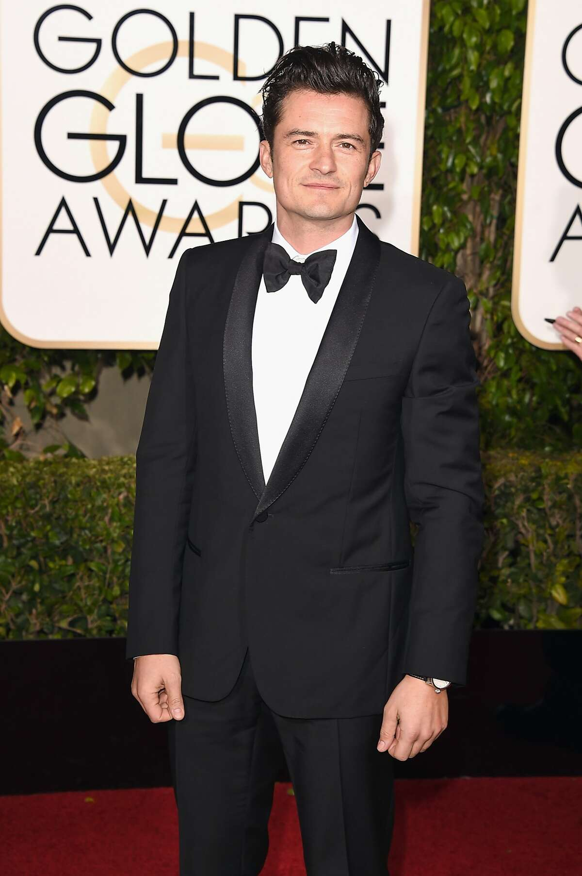 PIGS: Orlando Bloom's phobia of pigs would have remained a secret if pigs were not let loose on the set of