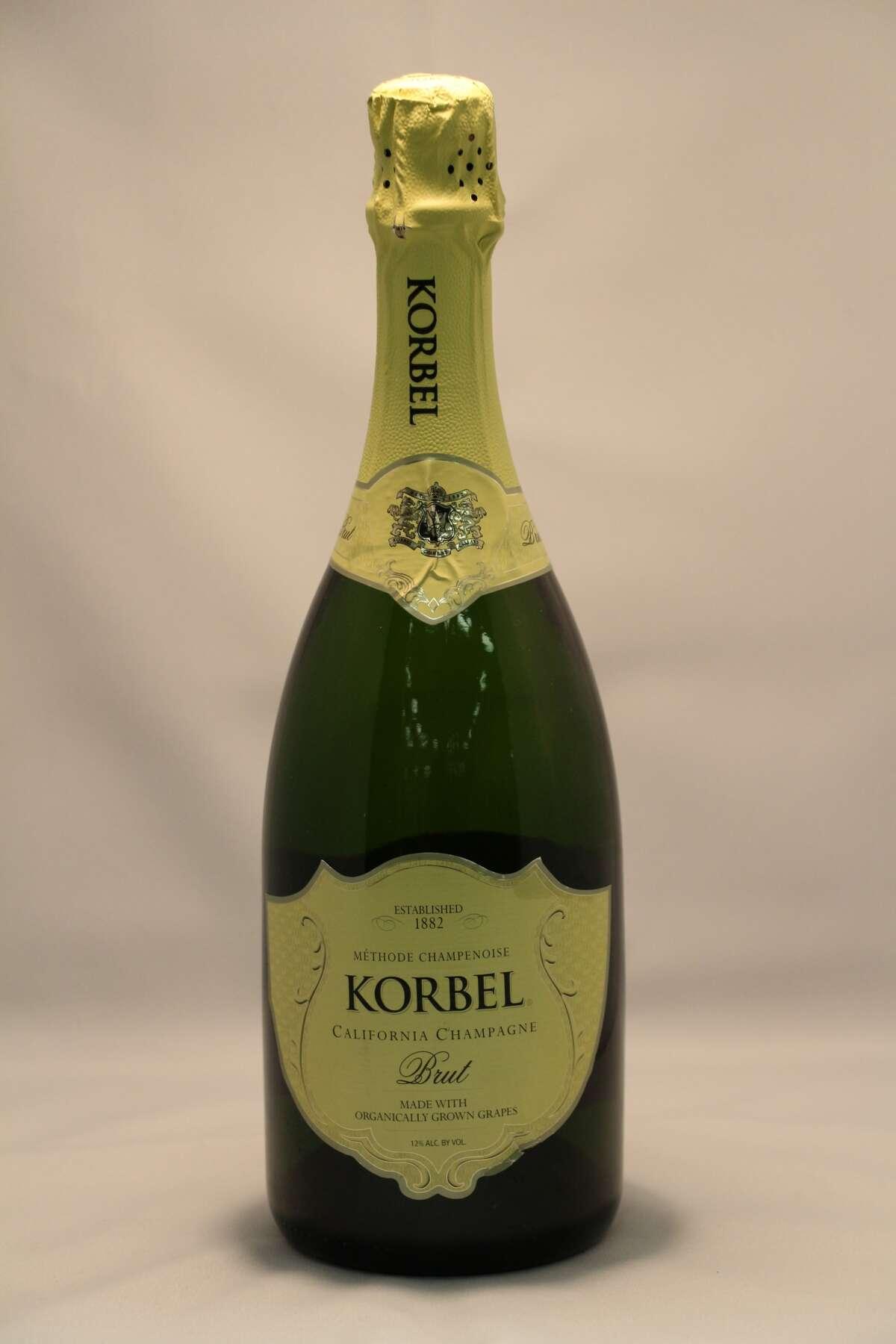 Sparkling Sweepstake Winner Korbel, Brut, California Champagne, Organically Grown Grapes, Guerneville, CA