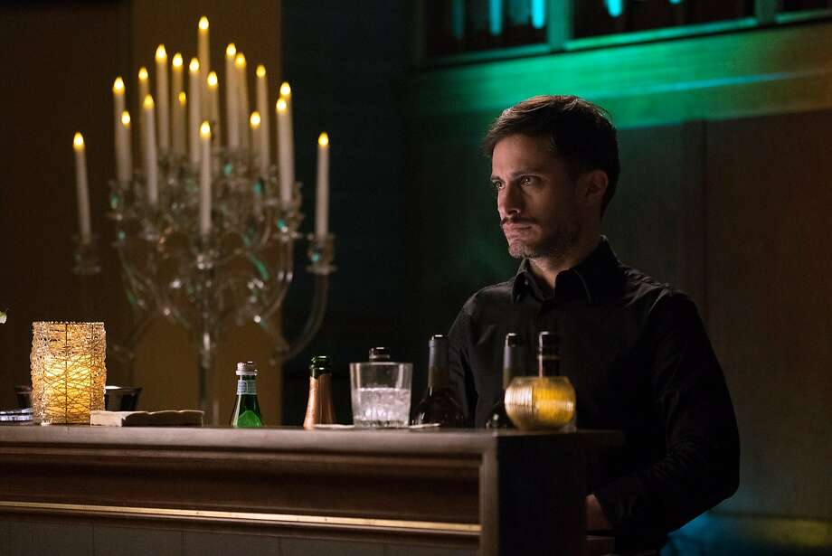 """This photo provided by Amazon Studios shows Gael Garcia Bernal as Rodrigo in a scene from season two of """"Mozart in the Jungle.""""  Bernal is nominated for a 2016 Golden Globe Award for best actor in a TV comedy series. The 73rd annual Golden Globe Awards air Jan. 10, 2016 on NBC. (Ali Goldstein/Amazon Studios via AP) Photo: Ali Goldstein, Associated Press"""