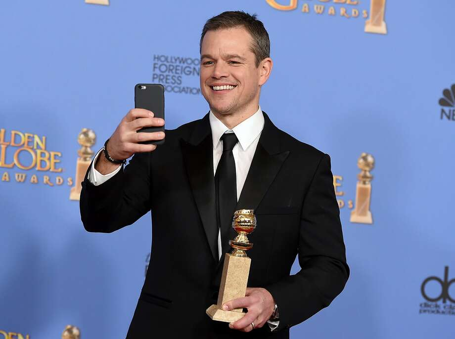 "Matt Damon was named best actor in a musical or comedy for ""The Martian,"" which isn't exactly a comedy. Photo: Jordan Strauss, Associated Press"