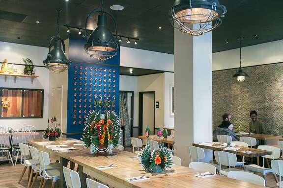 The dining room at Farmhouse Thai Kitchen on Florida Street near 19th Street in San Fransico.