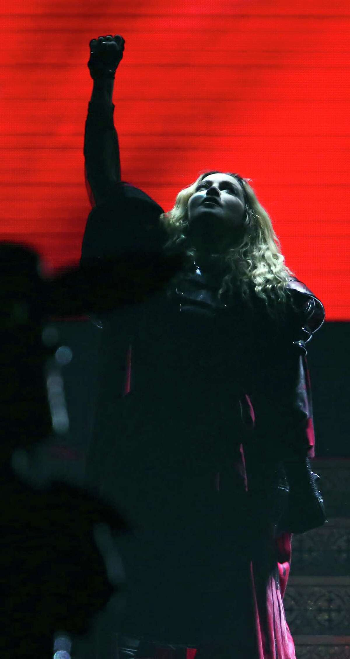 Madonna performs Sunday Jan. 10, 2016 at the AT&T Center.