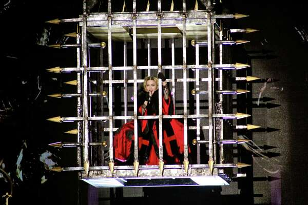 Madonna performed in front thousands of fans Sunday Jan. 10, 2016 at the AT&T Center in San Antonio.