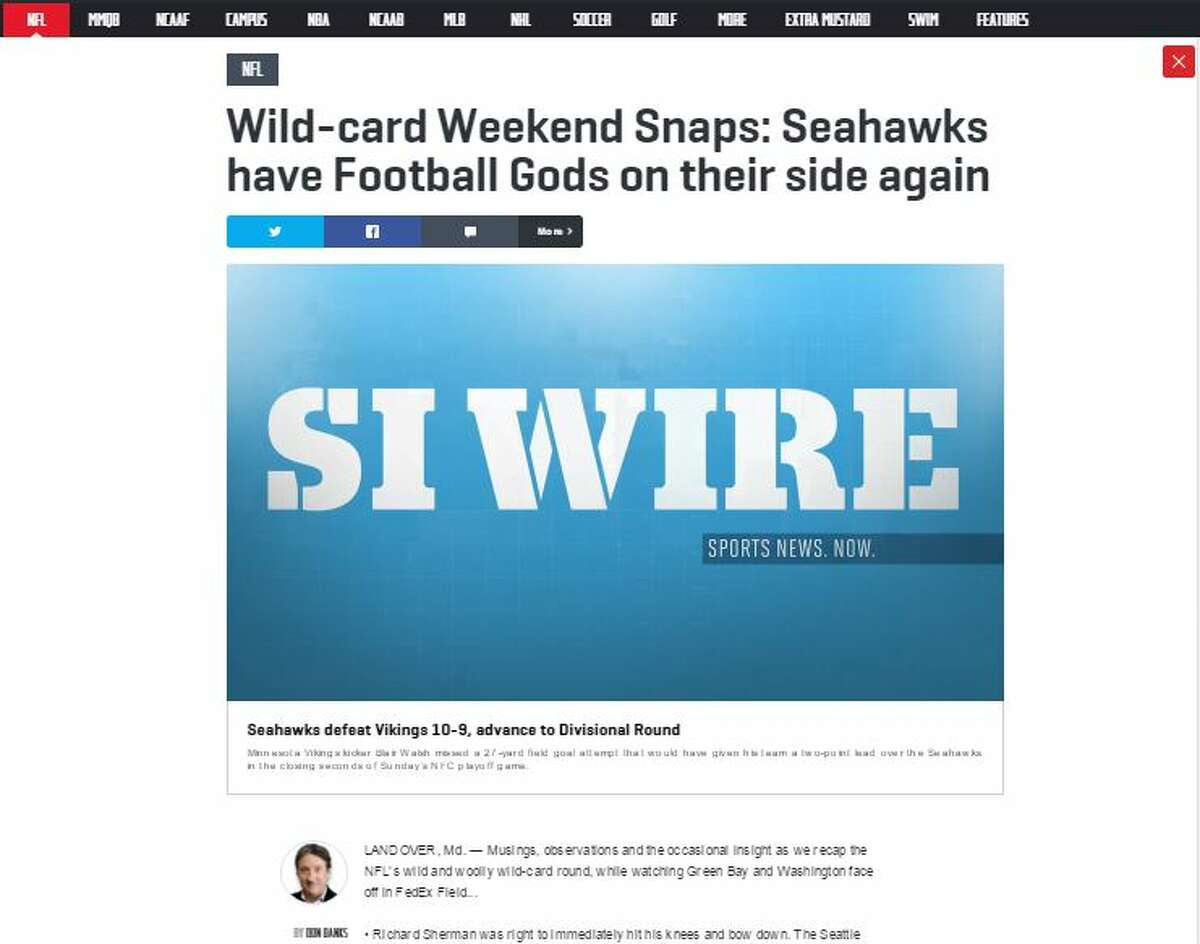 Sports Illustrated's Don Banks On Seahawks staying alive: