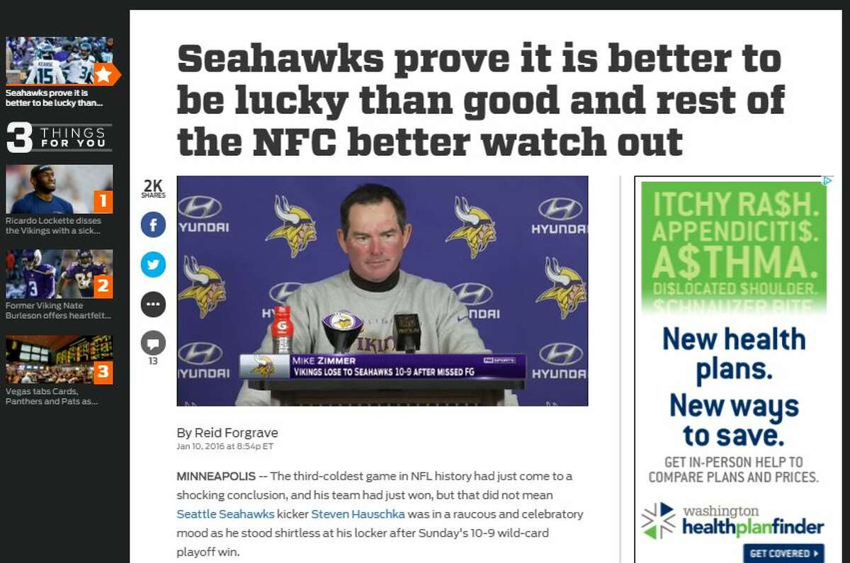 Fox Sports' Reid Forgrave On how Seattle escaped with a victory: