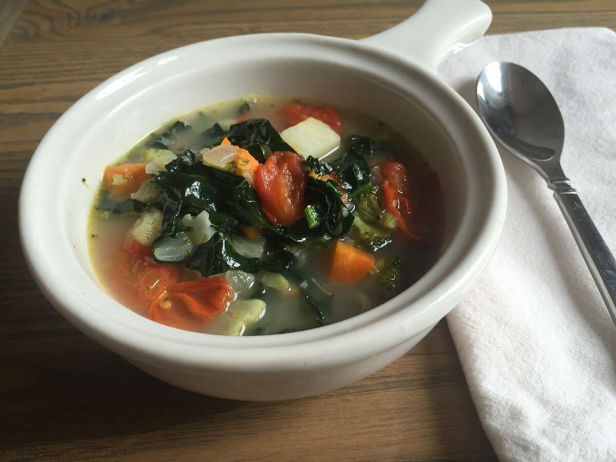Winter vegetable soup uses up whatever you have at home