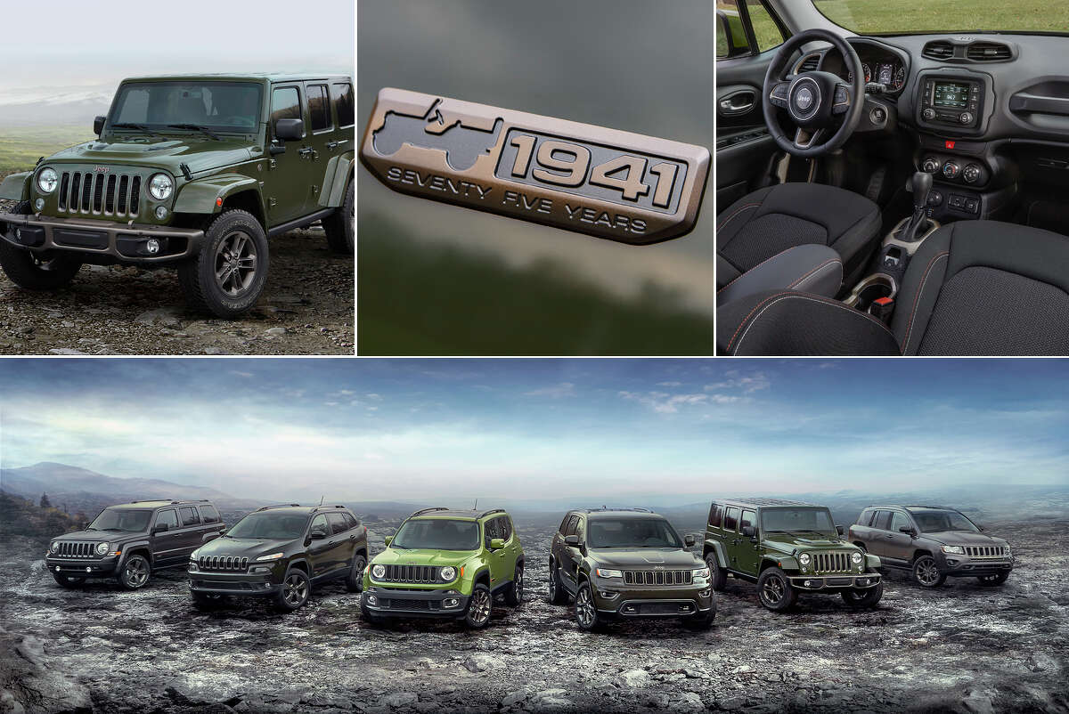 Fiat Chrysler Automobiles is celebrating the 75th anniversary of its popular Jeep brand in 2016 with 75th anniversary Special Edition models across its product lineup. (FCA North America)