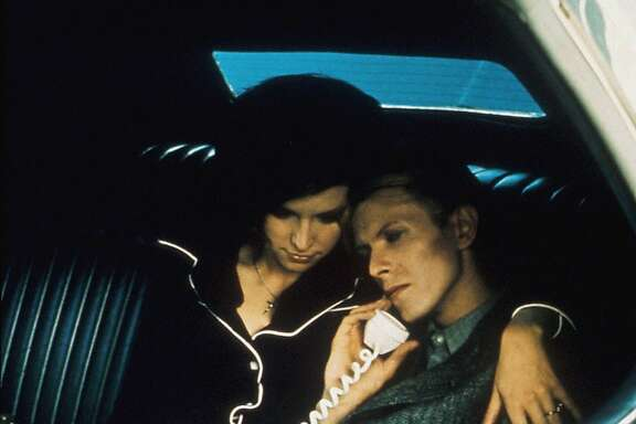 """Candy Clark and David Bowie in Nicolas Roeg's 1976 science fiction film """"The Man Who Fell to Earth,"""" which is getting a 35th anniversary re-release in San Francisco in September, 2011."""