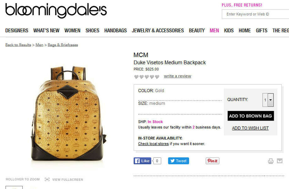 Some people wear their hearts on their sleeves. Others wear their wealth on their backs, via this $825 backpack.