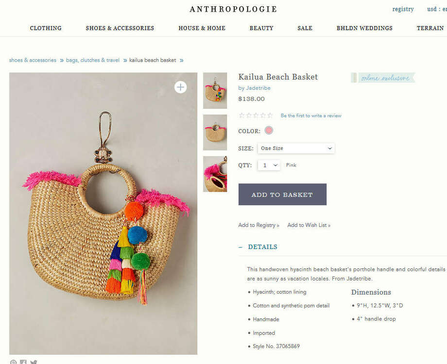 Instead of spending a lot of dough on a Caribbean vacation in order to buy a souvenir bags, you can buy one that almost looks like the real deal for $138. That technically makes it a bargain. (Right?)