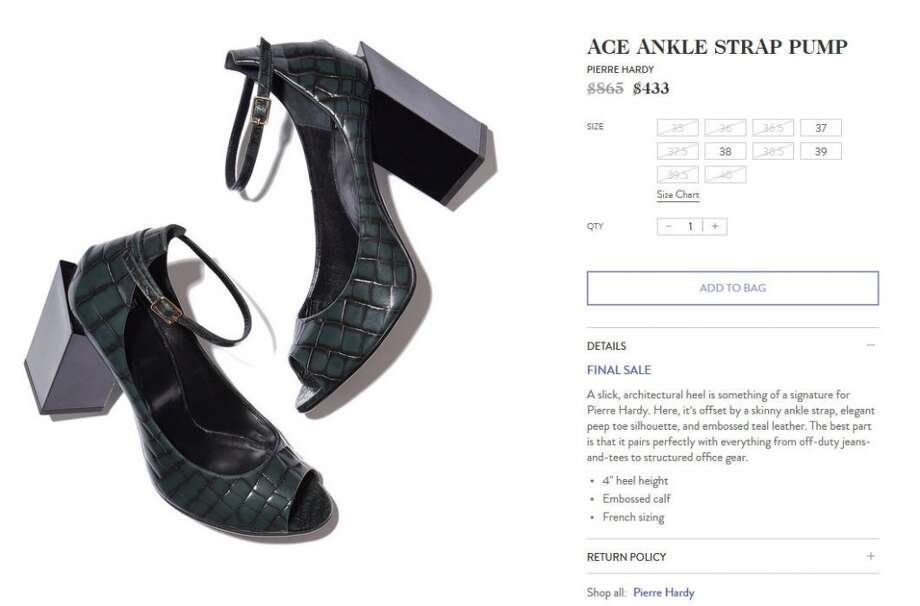 The good news is that if your heel breaks on these $433 shoes, you could probably attach a black Lego block and no one would notice.