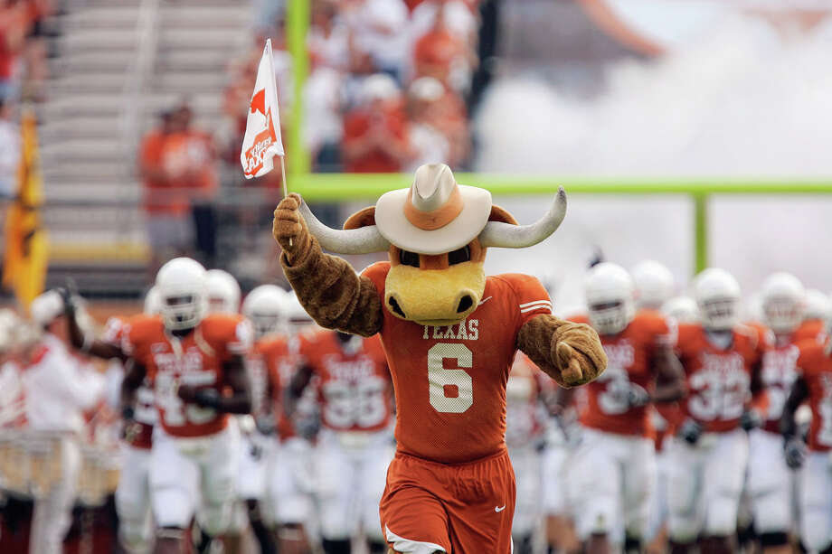 No. 8 TexasThe Longhorns earned a modicum of respect with a top 10 ranking, but they have beef with at least one school in front of them - the Oklahoma Sooners. Those guys from north of Dallas are ranked No. 2 on the strength of seven national championships compared to three for the Longhorns (four if you count the 1970 season when Texas won the title in the coaches' poll, but Nebraska claimed the AP title). Sure, that may seem fair, but the ultimate arbiter in sports is the scoreboard. These teams have played each other 110 times since 1900. So, the folks with the calculators at the AP offices might have had some fun by creating their fancy formula, but we all could have saved them a bunch of time by simply looking at the scoreboard. The Longhorns own that Cotton Bowl scoreboard with a 61-44-5 edge all-time in the series. Sorry, Sooners. Get to the back of the line. Photo: Brian Bahr, Getty Images / 2008 Getty Images