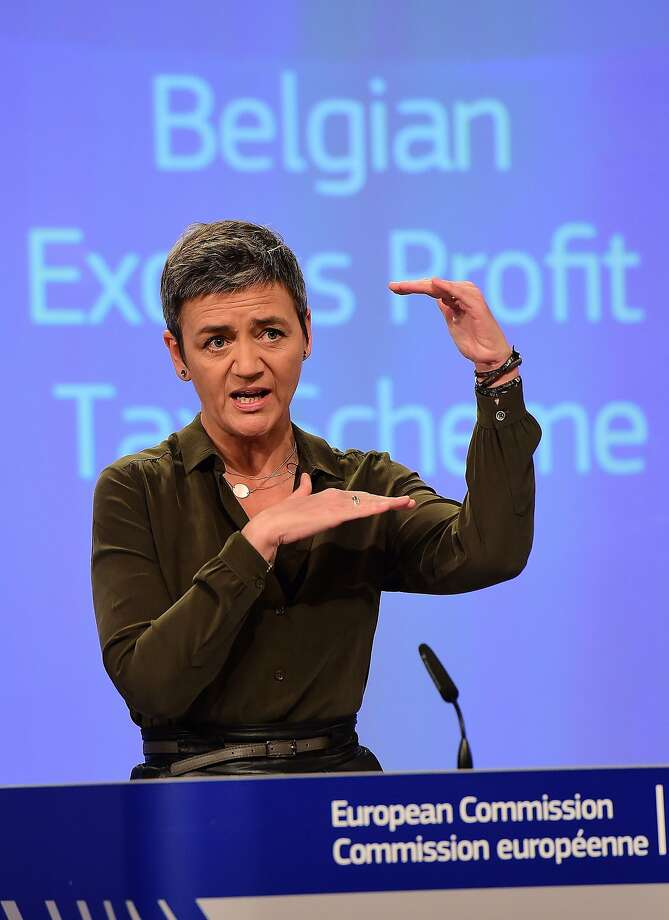 EU Competition Commissioner Margrethe Vestager found that Belgium granted unfair tax advantages. Photo: Emmanuel Dunand, AFP / Getty Images