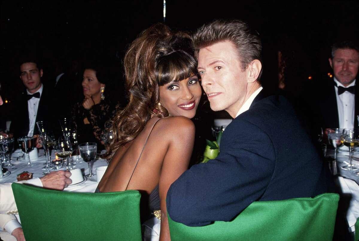Model Iman and husband, musician David Bowie.