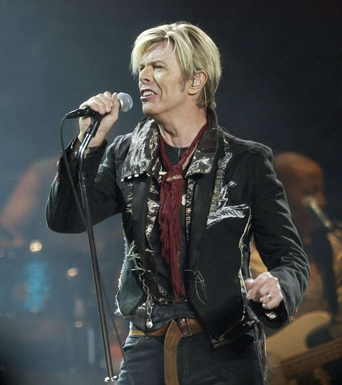 FILE - In this Dec. 15, 2003 file photo, singer/songwriter David Bowie launches his United States leg of his worldwide tour called