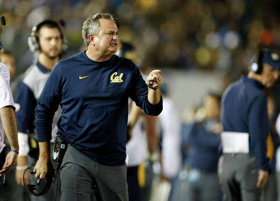 PASADENA, CA - OCTOBER 22:  Head coach Sonny Dykes of the California Golden Bears looks towards the field during the game against the UCLA Bruins at the  Rose Bowl on October 22, 2015 in Pasadena, California.  (Photo by Sean M. Haffey/Getty Images) Photo: Sean M. Haffey / Getty Images / 2015 Getty Images