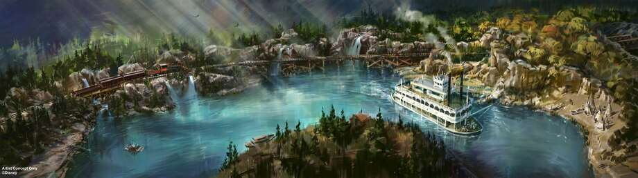 An artist's rendering shows changes that will be made to Disneyland's Rivers of America. Photo: Disney