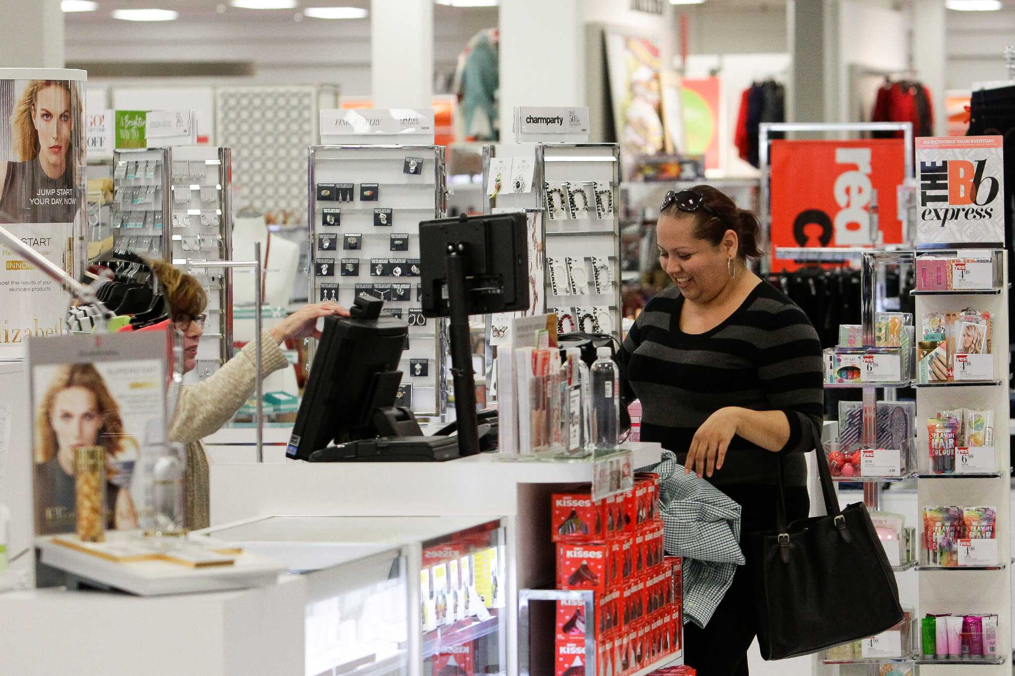 Shares of stage stores tumble after q4 earnings report for Michaels craft store houston
