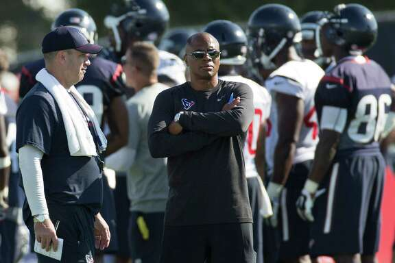 The job of coach Bill O'Brien, left, is to turn personnel moves of GM Rick Smith, right, into wins.