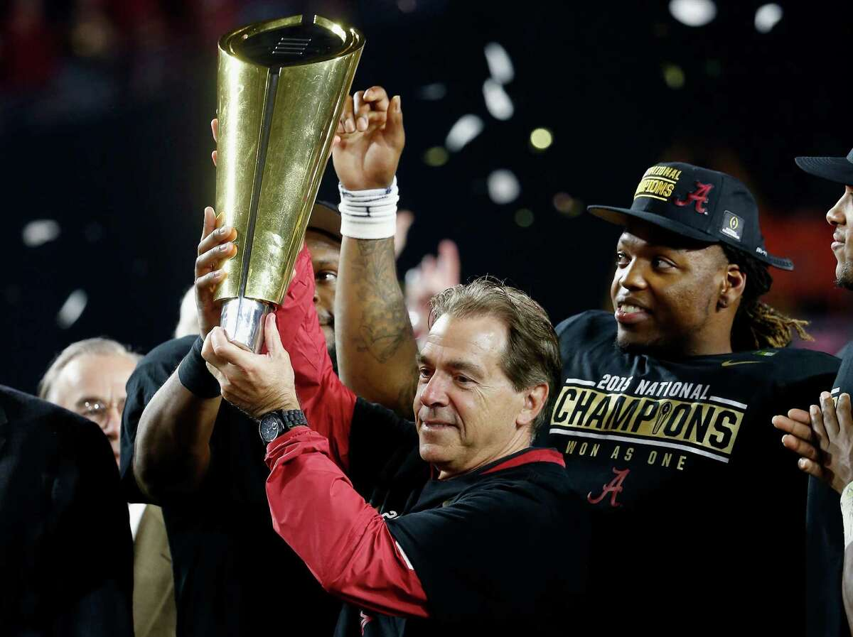 Nick Saban's fourth national title with Alabama and fifth overall will be remembered for his daring onside kick call.