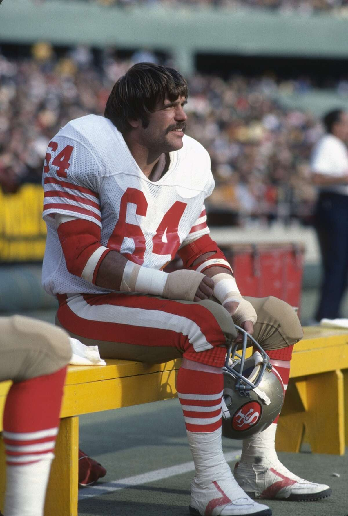 """1970: Jack Reynolds, LB, L.A. Rams He played 15 years in the league and had one of its coolest nicknames: """"Hacksaw."""" He later joined the 49ers and famously showed up at the team breakfast before Super Bowl XVI in full uniform."""