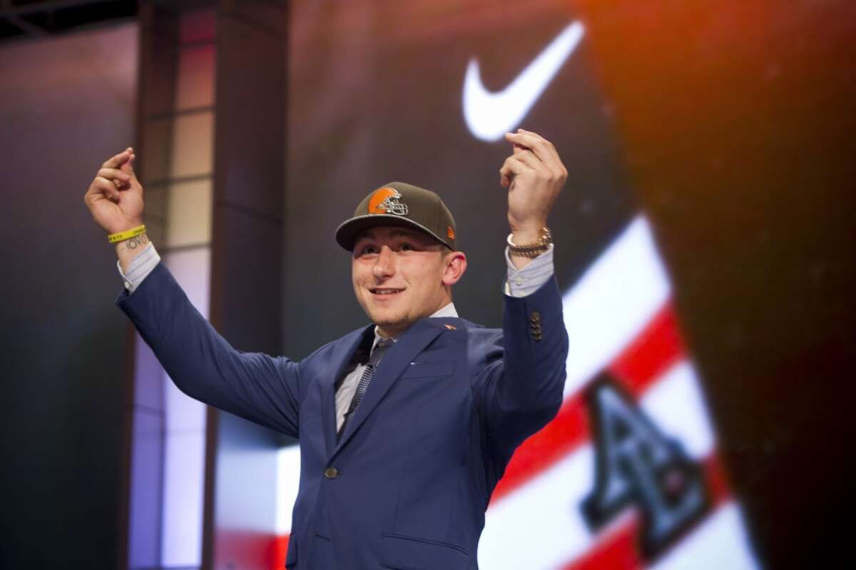 Other notable picks atNo. 22 Johnny Manziel, QB, Browns(2014, pictured): Unfortunately, the former Texas A&M standout is notable for the wrong reasons, namely excessive partying and off-field conduct that ended his stay in Cleveland after two years. Jack