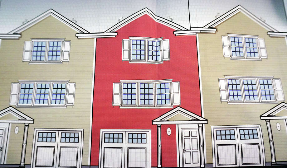 The rendering of a proposed 9-unit affordable housing complex for property on Bloomfield Drive. Photo: Contributed Photo / Hearst Connecticut Media /  Fairfield Citizen contributed