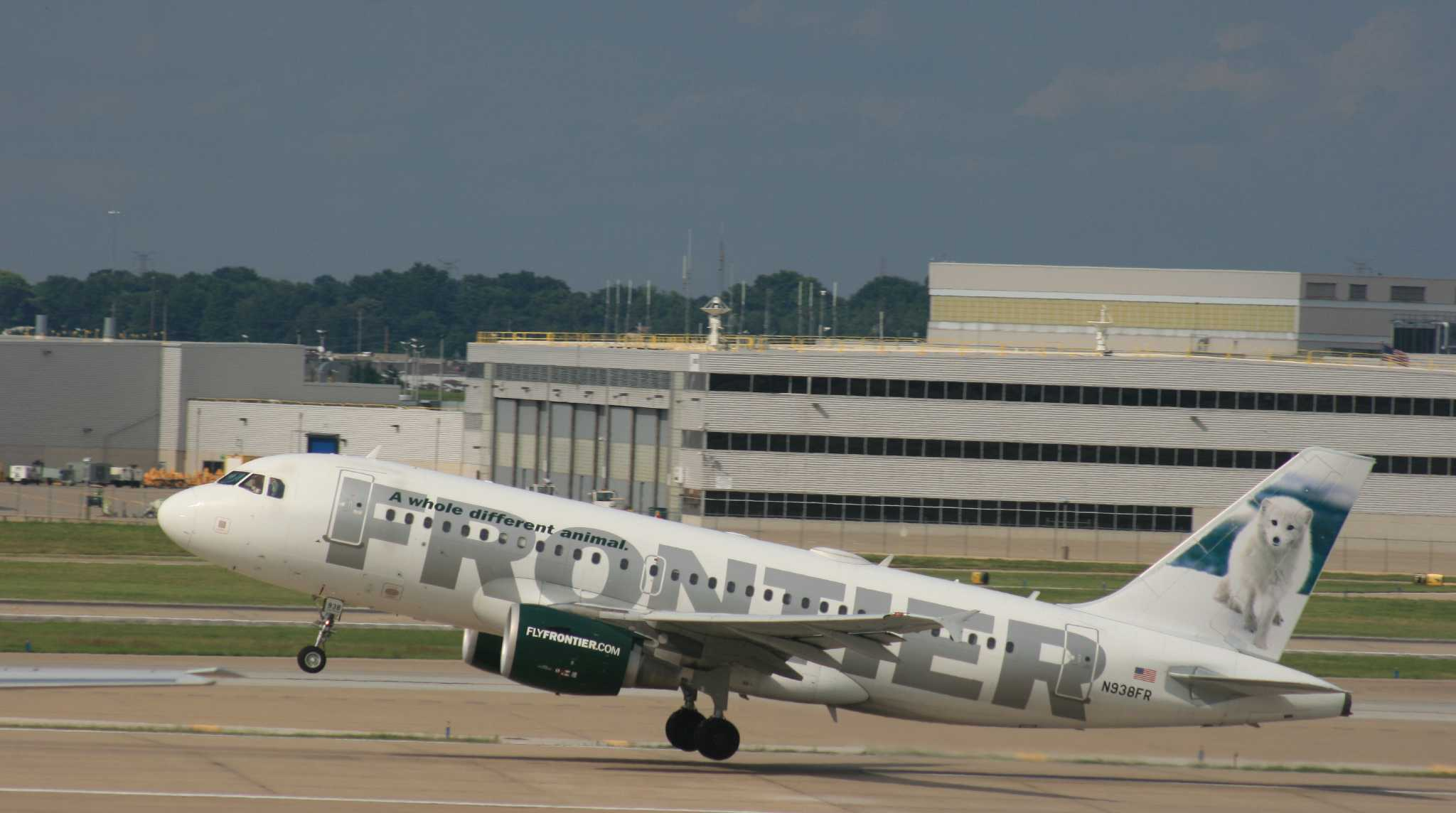 Frontier Returning To Local Airport With Flight To